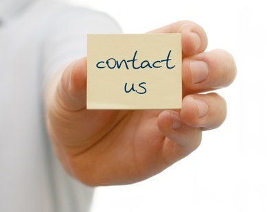Notiz mit contact us